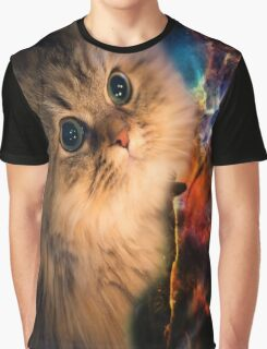 Spaced Kitten Graphic T-Shirt