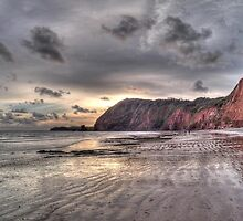 Devon coastline view by maratshdey