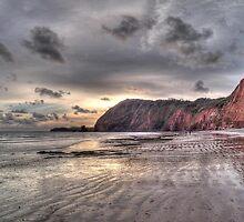 Devon coastline view by maratshdey