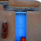 Taos Blue Window by Michael Kannard
