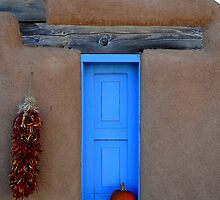 Taos Blue Window by Michael Kannard