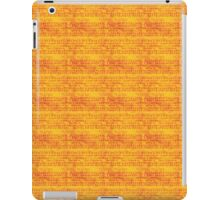 Red Music on Orange iPad Case/Skin