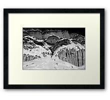 Snow on the Hoodoos Framed Print