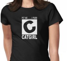 Catgirl rating Womens Fitted T-Shirt