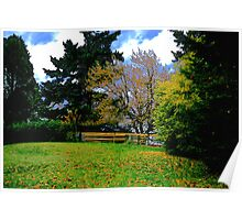 Park Fence and Trees Poster