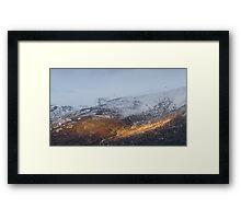 Sunlit mountain. Framed Print