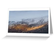 Sunlit mountain. Greeting Card