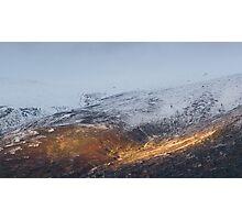 Sunlit mountain. Photographic Print