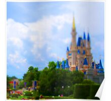 tiny disney castle Poster