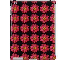 Pink and Yellow Flower on Black iPad Case/Skin