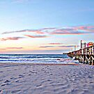 Pier At Dawn in HDR by Dawne Dunton