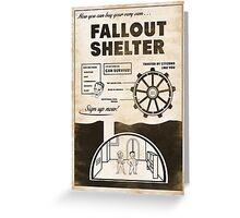Fallout Shelter Propaganda Poster Greeting Card
