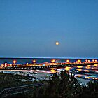 Full Moon At The Pier in HDR by Dawne Dunton
