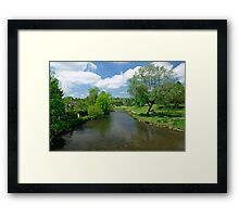 The River Wye from Bakewell Bridge  Framed Print