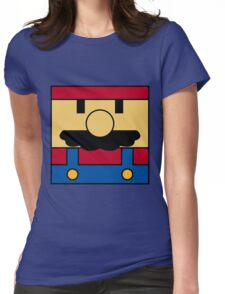 Minimal Mario Womens Fitted T-Shirt