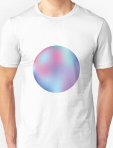 Abstract Blue and Purple Gradient Aesthetic T-Shirt