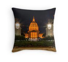 San Francisco City Hall in Orange Throw Pillow