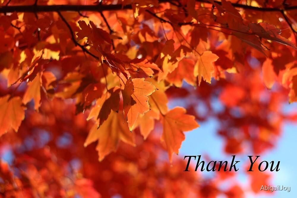 Orange Thank You by AbigailJoy