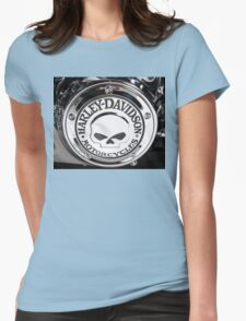 Harley Chrome 1 Womens Fitted T-Shirt