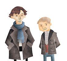 Sherlock & John by Jeff Crowther