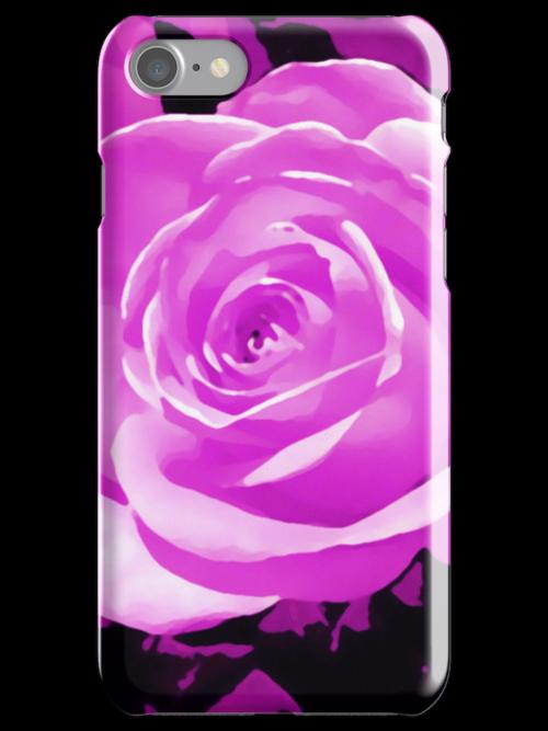 purple rose flower i phone/i pod case by jenny meehan