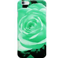 greeny blue turquoise rose flower i pod/i phone case iPhone Case/Skin