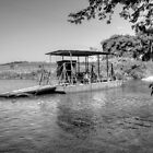 Ferry to cross the Mopan River in Cayo - Belize, Central America by 242Digital
