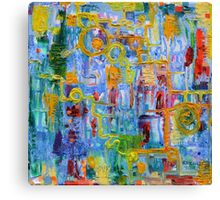 Nonlinear Computation, Original Abstract Oil Painting by Regina Valluzzi Canvas Print