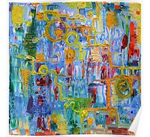 Nonlinear Computation, Original Abstract Oil Painting by Regina Valluzzi Poster