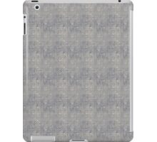 Grungy Gray Blue Circles iPad Case/Skin