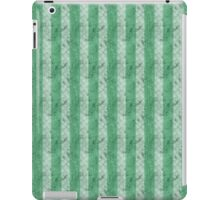 Grungy Fat Green Stripes iPad Case/Skin