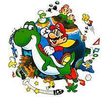 Super Mario World Planet. Photographic Print