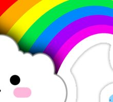 Super Cute Clouds and Rainbow Sticker