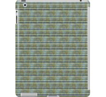 Grungy Blue and Yellow Stripes iPad Case/Skin