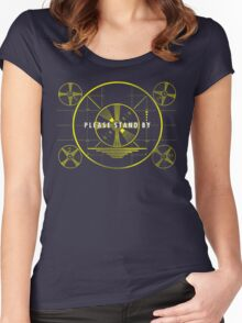 Please Stand By Women's Fitted Scoop T-Shirt