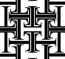 Typographic Continuum IXa - Times New Roman by Jeff Batt