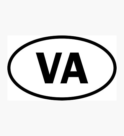 Virginia - VA - oval sticker and more Photographic Print