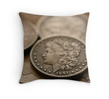 Morgan Silver Dollar Throw Pillow