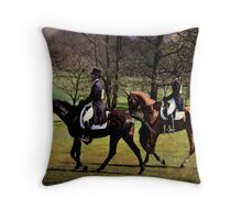 Dressage Pair Throw Pillow
