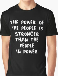 Power to the People - Inverse Graphic T-Shirt
