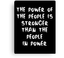 Power to the People - Inverse Canvas Print