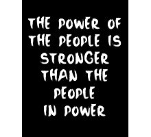 Power to the People - Inverse Photographic Print