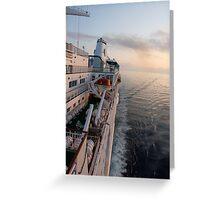 Island Escape Sunset Greeting Card