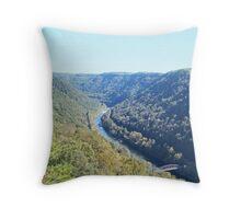 Appalachian Mountain Landscape Overlook  Throw Pillow