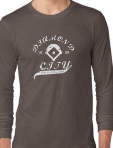 Diamond City - White Long Sleeve T-Shirt