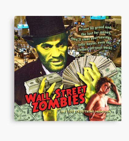 Wall Street Zombies Canvas Print