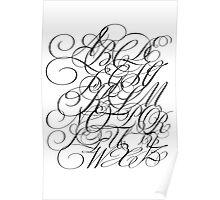 Typographic Continuum IV - Bickham Script Alphabet Poster