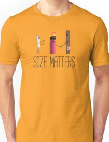 Size matters cigar, cigarette, lighter, hilarious. Unisex T-Shirt