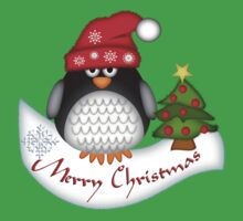Cute Christmas Penguin Baby Tee