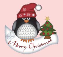 Cute Christmas Penguin Baby Tee